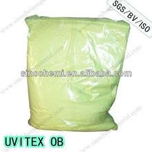 Fluorescent whitening agent for PVC plastic