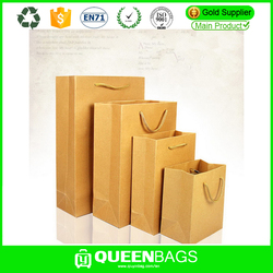 promotional gift custom logo craft paper shopping bag