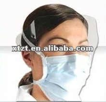 PP,PPSB,SPP and SBPP film fiberglass free disposable nonwoven white latex face shield mask for surgical and medical use