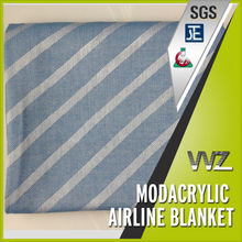 Economy class modacrylic flame retardant airline blanket Jacquard woven airline blanket Chinese manufacturer