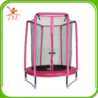 55inch pink cheap indoor/outdoor mini trampoline with safety enclosure/net for sale