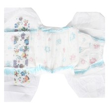 Ultra thin Baby diaper in cloth like film with printed color and magic tape and ADL and waist elastic band