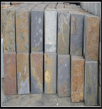 Easy installment natural rusty color stone tiles raw material roofing slate product