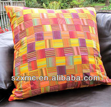 Comfortable Terylene Pillow for sofa Cushion fashion geometric grid Graphics Sofa Back Cushion Cover