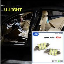 Factory cheap bulb atuo Car LED dome/interior light 39mm 9smd 5050 led light AC 12-15V
