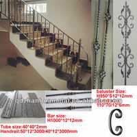 ornamental interior wrought iron stair railings