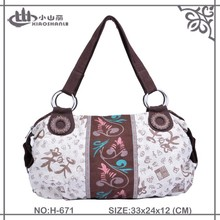Popular floral print cotton handbag for women from Chinese manufacture