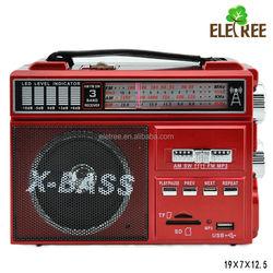multifunctional portable radio high battery capacity built in loud speaker 3 band radio EL-162URT