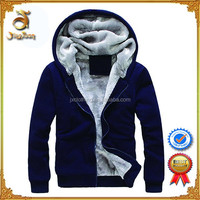 Wholesale Heavy Full Zip Up Thick Fleece Plain Black Cheap 100% Blank Polyester Hoodies