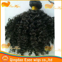 Factory wholesale100% human hair mongolian hair extension afro kinky twist 1b color 18 inch