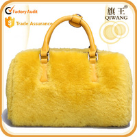 free shipping designer warm style handbag wool satchel with strap top handle bag for women