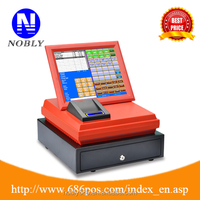 """Easy operated 12 """" pos system all in one cash register"""