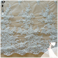China supply dhorse bridal lace/wholesale mesh lace fabric for wedding dress/DH-BF 779 latest hand beaded design lace fabric