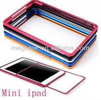 Tablet case cover Pull out Aluminum bumper case for ipad mini, for ipad mini case bumper ,for ipad case mini