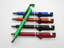 New arrival 4 in 1 ball pen + stylus touch + scan code print + phone stand holder