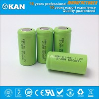 KAN Rohs certified 1.2V 2/3AA 600mAh rechargeable NiMH not ni-cd battery