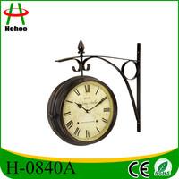 Metal waterproof outdoor clock iron outdoor clock