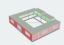 portable/removeable quadrangle dwellings for construction head office