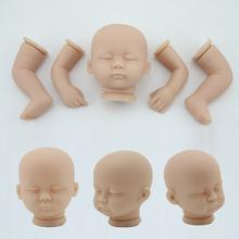 Kits de modelo de kit boneca reborn criança vinil macio silicone de 16 polegadas dormir kits boneca reborn completos sem pintura