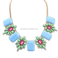N542 Nice mart Hot Chaines New pictures Jewelry Manufacturer Factory Supply Directly Women Flower Statement Necklace