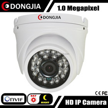 DONGJIA DJ-IPC-HD3129HD HD 1280*720P 1.0MP 3.6mm lens dome ip camera mini, rohs cctv camera