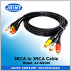 3rca stereo audio cable 3 rca 3.5mm plug male