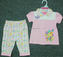 baby girls T-shirt and pants sets/girls clothing sets/girls T-shirt sets