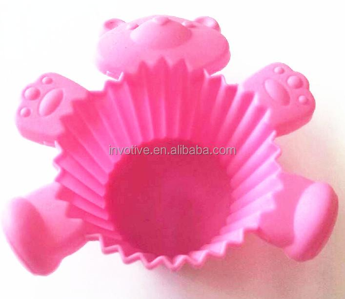 FDA/LFGB cute design silicone cake mold hand shape