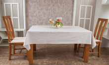 100%cotton white restaurant table cloth factory