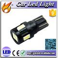 Alto lumen del coche de iluminación led, t10 6 smd 5630 led de iluminación de los coches