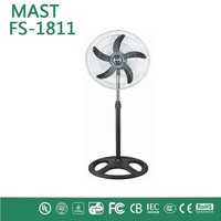 18inch stand solar rechargeable fan with led light-industrial fan with good quality many different styles