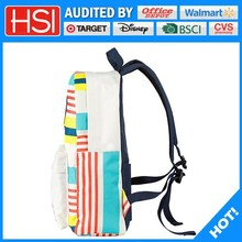 audited factory wholesale price plain inexpensive bag backpack