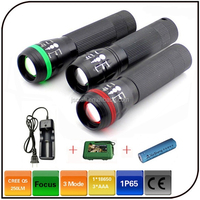 5 watt powered by 18650 or AAA battery zoom 300 lumen led emergency flashlight
