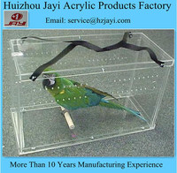China manufacturing wholesale acrylic bird cage/handmade bird cage
