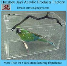 China manufacturing wholesale acrylic bird cage/handmade bird cage