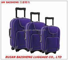 BS6833 2015 new design shangdong silk polyester trolley bag suitcase outside trolley case travel bags