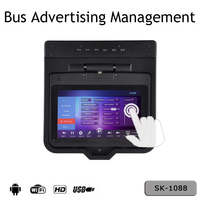 Advertising machine on Bus connect to roof flip down monitor Karaoke player with wireless microphones