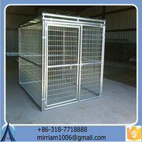 Ourable and auti-rust galvanized comfortable low price high quality large strong dog kennels/pet houses