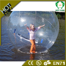inflatable big beach ball for walk on water,transparent inflatable beach walk on water ball for water park