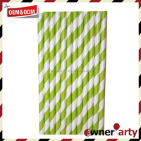 Eco Party Favors Wholesale Striped Paper Straws