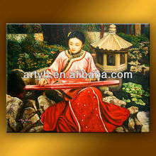 Traditional Chinese Woman Oil Painting For Wall