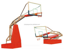 Indoor portable height adjustable basketball goal pole