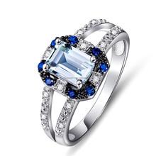 925 sterling silber nat rliche blauer topas ring for Verlobungsring blauer stein