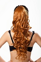 2015 New 100g/pcs Fashion half wig Ponytail Hairpieces Braid Straight Synthetic Ponytail Hair Extension various color avaible