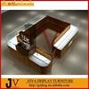 Wood veneer new design jewelry kiosk showcase furniture to store jewelry