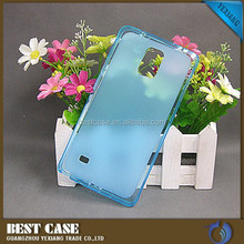 light weight tpu jelly case for samsung galaxy note 4 clear case