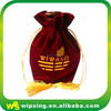 Luxury Velvet Jewellery Pouch With Gold Tassel Drawstring