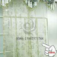 hot sale tulle voile embroidered eyelet fabric flower pattern embroidered organza fabric window curtains
