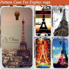 12 Patterns the Eiffel Tower cover case for Explay Vega / Colored Paiting case for Explay Vega Free Shipping