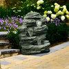 24 inch Polyresin Cascade Rock Garden Water Fountain